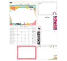 2020 Illustrated Memo Calendar with Pen