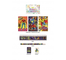 STATIONERY SET 5PC SUPER HERO