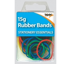 Essential 15g Rubber Bands Coloured