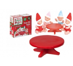 "4.5"" RED POLYSTONE MINI ELF BABY TABLE"