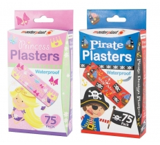 75PK PIRATE & PRINCESS PLASTER