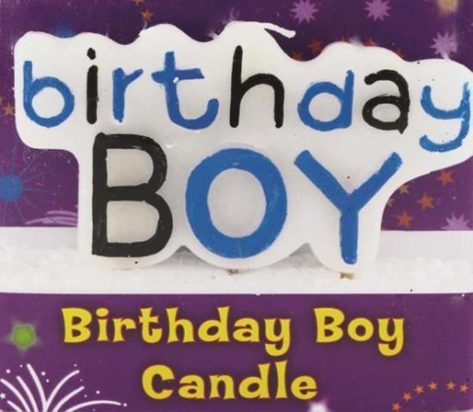 BIRTHDAY BOY CANDLE - Click Image to Close