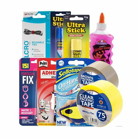 GLUES, ADHESIVES & TAPES