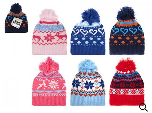 CHILDS KNITTED BEANIE HAT WITH POM POM ASSORTED COLOURS 99d24d6ab0ed