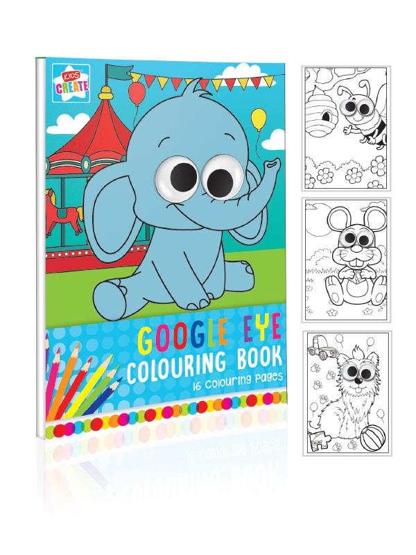 A4 WIGGLY EYES COLOURING BOOK