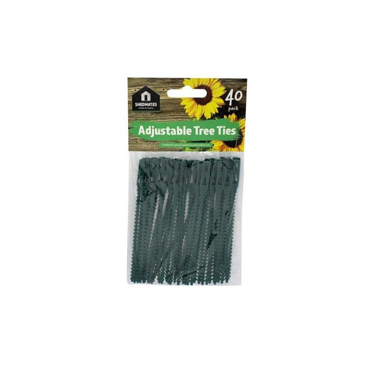 GARDEN ADJUSTABLE TREE / PLANT TIE 40 PACK