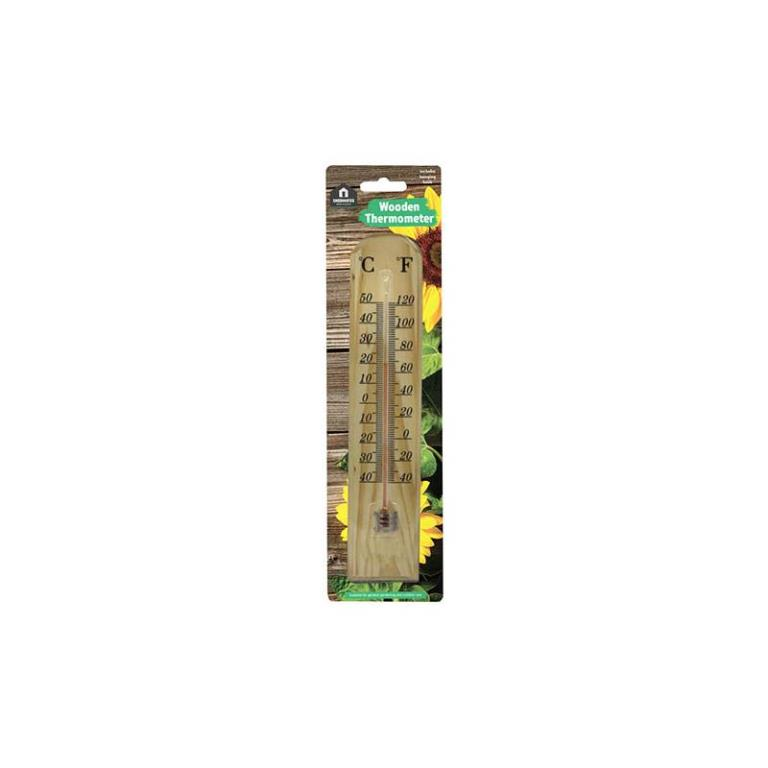 GARDEN TRADITIONAL WOODEN THERMOMETER