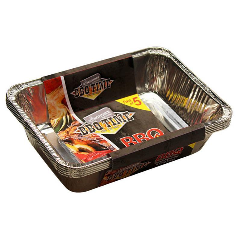 5 PACKS OF BBQ TRAYS IN DISPLAY