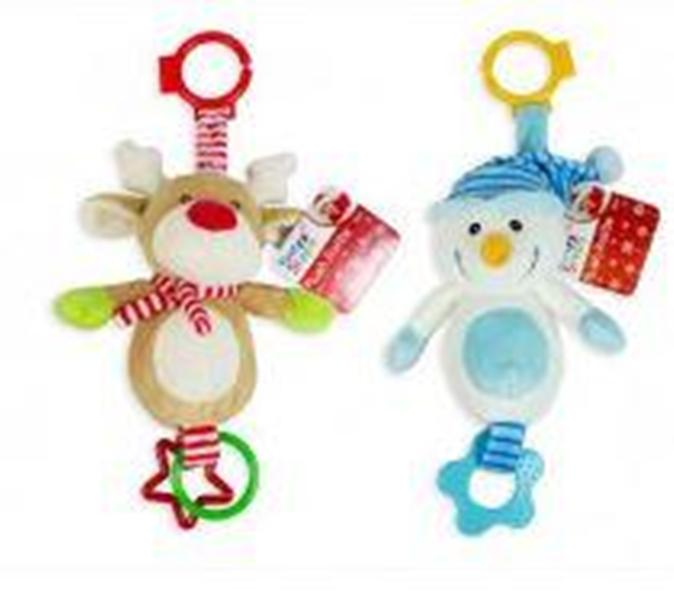 XMAS PLUSH TOY WITH TEETHER 6""