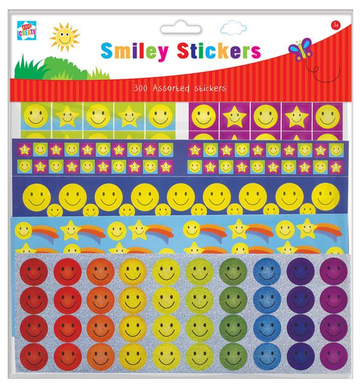300 SMILEY STICKERS