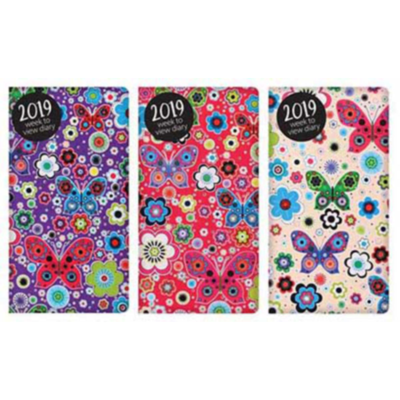 2019 Slim diary, WTV: Bright flowers and butterflies