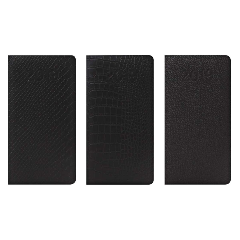 2019 Slim diary, WTV: Textured leatherette with Embossed Date