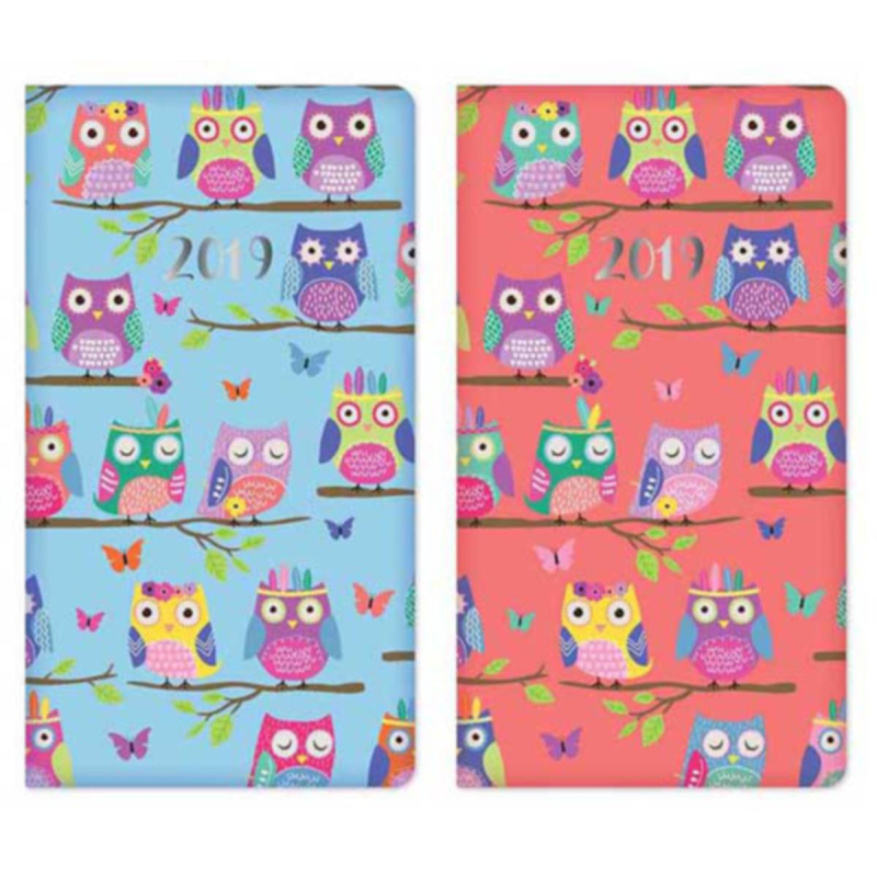 2019 Slim diary, WTV: PU Owls repeat pattern
