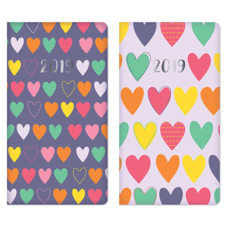 2019 Slim diary, WTV: PU Repeat Hearts