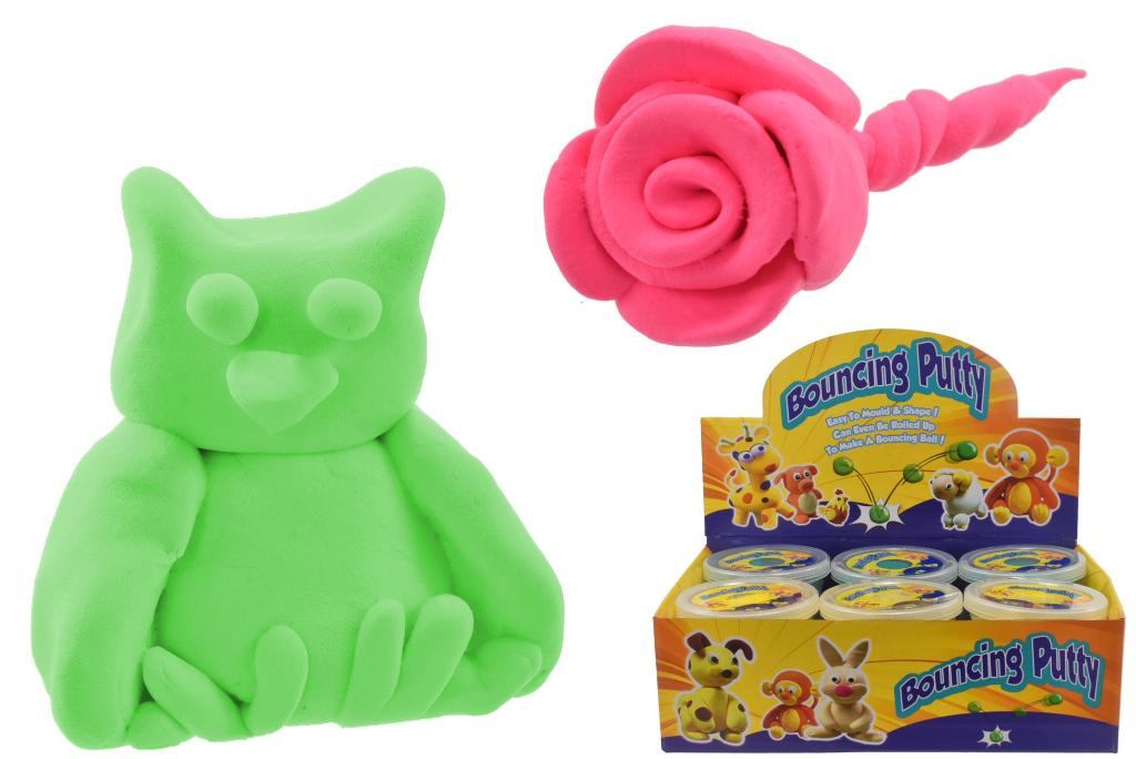 Neon Colour Bouncing Putty Slime In Display Box
