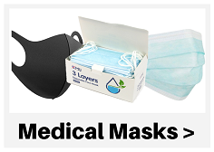 Medical / Surgical Mask 3ply 100 Pack - Click Here
